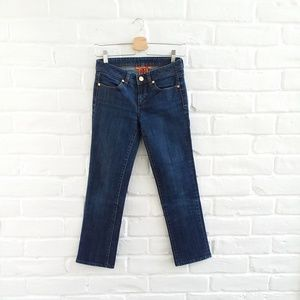 TORY BURCH Cropped Jeans Golden Buttons Size 25